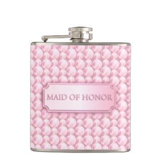 Criada nacarada rosada del frasco del boda del hon