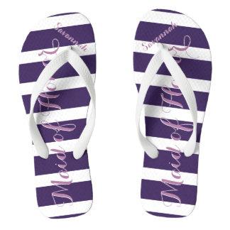 Criada personalizada del honor púrpura o de