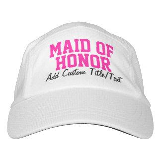 Criada personalizada rosa fresco del gorra del