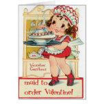 Criada retra del el día de San Valentín Tarjeta