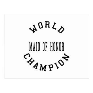Criada retra fresca del campeón del mundo del hono postales