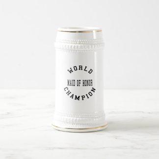 Criada retra fresca del campeón del mundo del hono jarra de cerveza