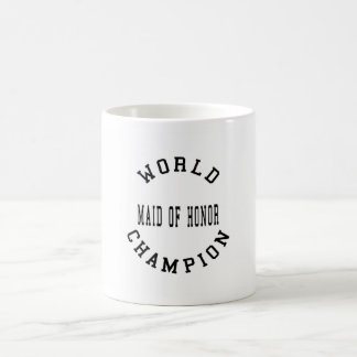 Criada retra fresca del campeón del mundo del hono taza básica blanca