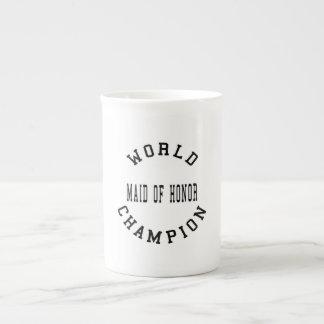Criada retra fresca del campeón del mundo del hono taza de porcelana