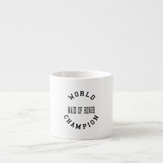 Criada retra fresca del campeón del mundo del hono taza espresso