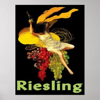 Criada Riesling del vino Póster