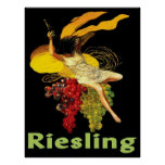 Criada Riesling del vino Posters