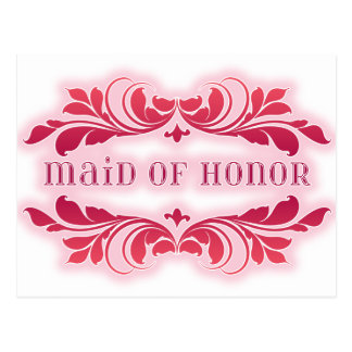 Criada rosada del diseño elegante del Flourish del Postal