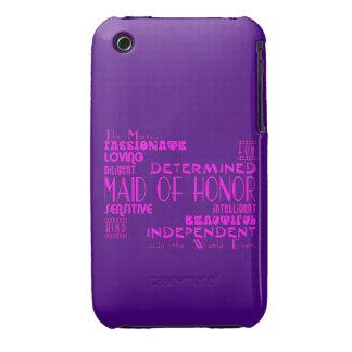 Criadas de los favores de banquete de boda del funda para iPhone 3 de Case-Mate