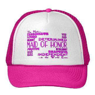 Criadas de los favores de banquete de boda del hon gorras de camionero