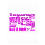 Criadas de los regalos de la diversión del honor: postal