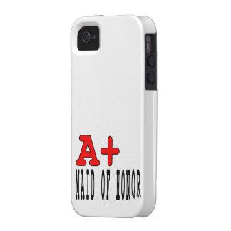 Criadas del honor divertidas: A+ Criada del honor iPhone 4 Carcasas
