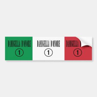 Criadas del honor italianas: Damigella D'Onore Pegatina Para Auto