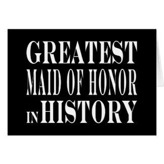 Criadas del honor: La criada del honor más grande  Tarjetón