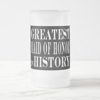 Criadas del honor: La criada del honor más grande  Taza Cristal Mate
