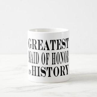 Criadas del honor: La criada del honor más grande  Taza Básica Blanca