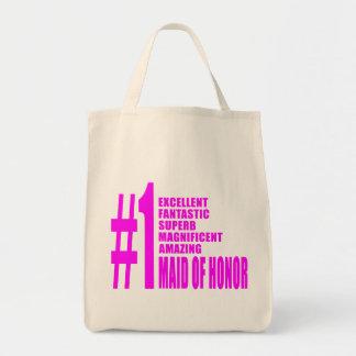 Criadas del honor rosadas: Criada del número uno d Bolsa Tela Para La Compra