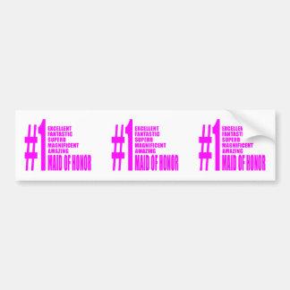Criadas del honor rosadas: Criada del número uno d Pegatina Para Auto