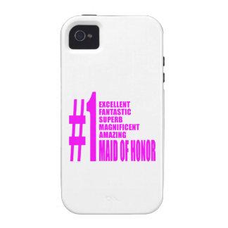 Criadas del honor rosadas: Criada del número uno d iPhone 4 Funda