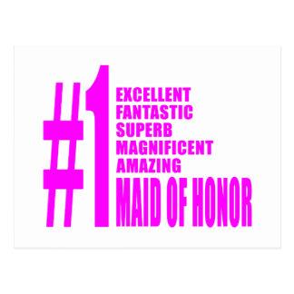Criadas del honor rosadas: Criada del número uno d Tarjeta Postal