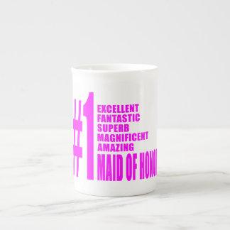 Criadas del honor rosadas: Criada del número uno d Taza De Porcelana