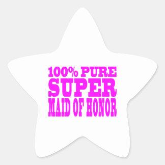 Criadas del honor rosadas frescas: Criada del Pegatina En Forma De Estrella
