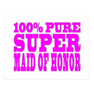Criadas del honor rosadas frescas: Criada del Tarjeta Postal