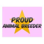 Criador animal orgulloso postal
