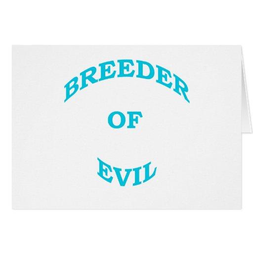 Criador del mal tarjeta de felicitación