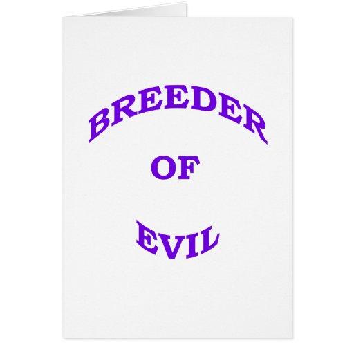 Criador del mal tarjetas