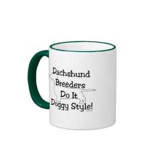 Criadores del Dachshund Tazas De Café
