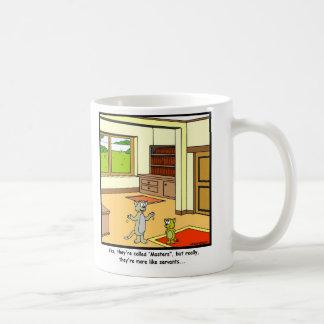 Criados: Dibujo animado del gato Taza De Café