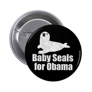 Crías de foca para Obama Pin Redondo 5 Cm