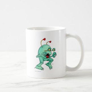 Criatura 2 del espacio tazas de café