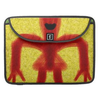 Criatura coloreada rojo fundas para macbook pro