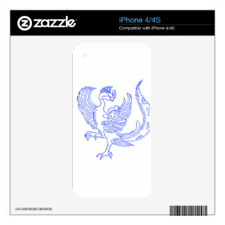 Criatura decorativa del pájaro iPhone 4S calcomanías