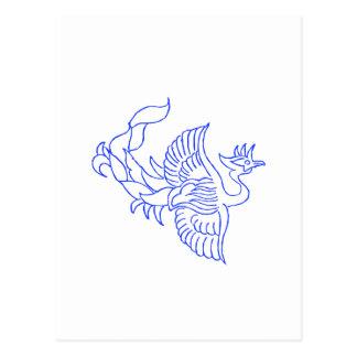 Criatura decorativa del pájaro tarjeta postal
