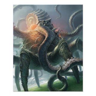 Criatura del abismo infinito póster