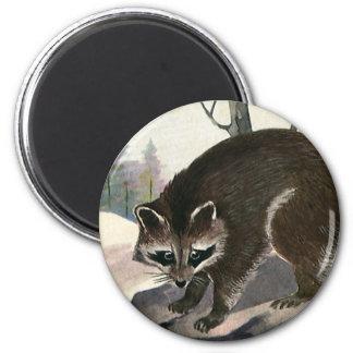 Criatura del bosque del animal salvaje del imán redondo 5 cm