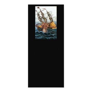 """Criatura del mar del pulpo de Steampunk Kraken del Invitación 4"""" X 9.25"""""""