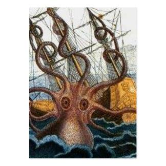 Criatura del mar del pulpo de Steampunk Kraken del Tarjetas De Visita Grandes