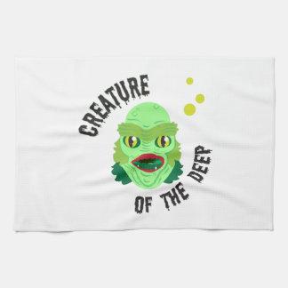 Criatura del profundo toalla