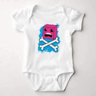 ¡criatura dentada enojada de la burbuja roja en t shirts