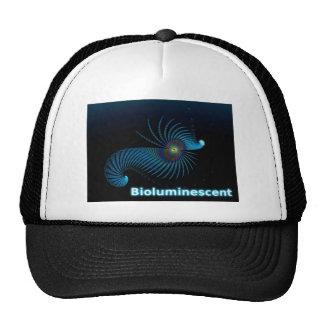 Criatura extranjera bioluminiscente del mar gorros