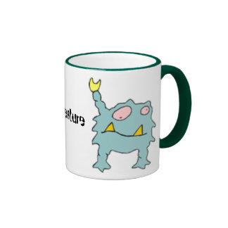 Criatura extranjera del mutante taza de café