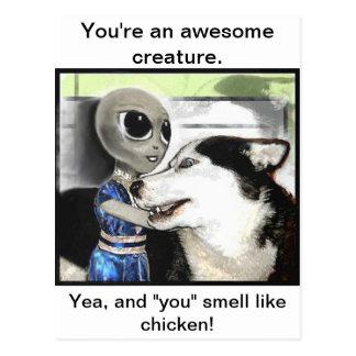 Criatura impresionante postales