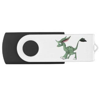 Criatura indefinida con el cuerno del unicornio memoria USB 2.0 giratoria