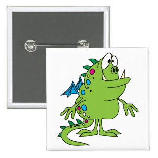 criatura linda del monstruo del dragón verde pins