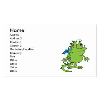 criatura linda del monstruo del dragón verde tarjeta personal