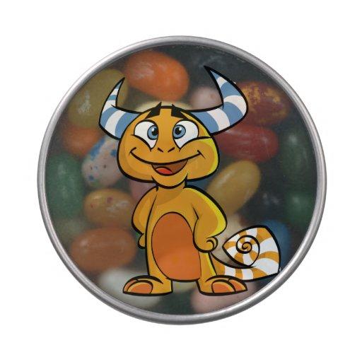 Criatura mítica de cuernos jarrones de caramelos
